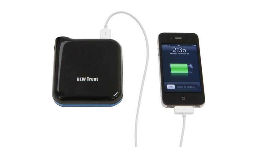 The New Trent iCruiser IMP1000 external battery pack is claimed to have enough capacity to fully recharge an iPad 2 or extend an iPhone 4's up time by 600 percent