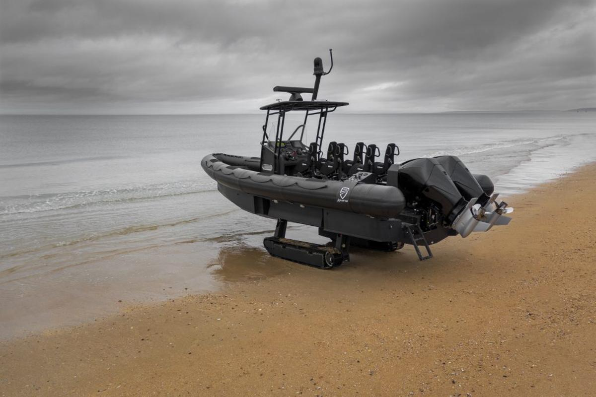 The Iguana Pro, a six-seat military and emergency-focused RIB, forms the basis for what Iguana says will be the world's fastest amphibious boat