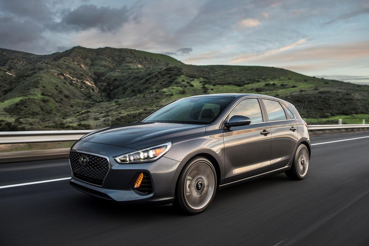 The new Hyundai Elantra GT Sport hatchback is powered by a 1.6-liter turbocharged engine