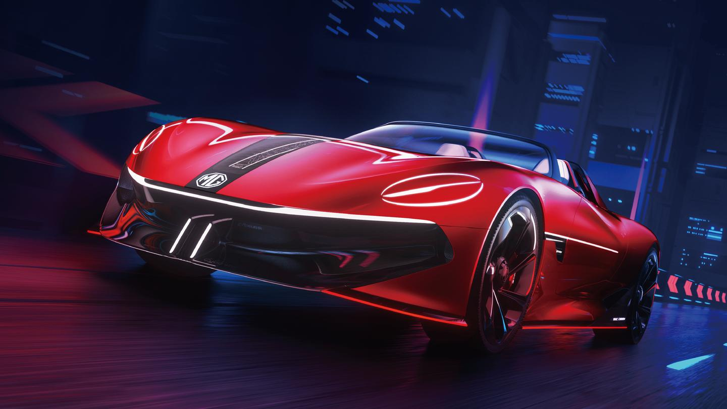 MG previews the Cyberster concept before its Auto Shanghai debut later this month