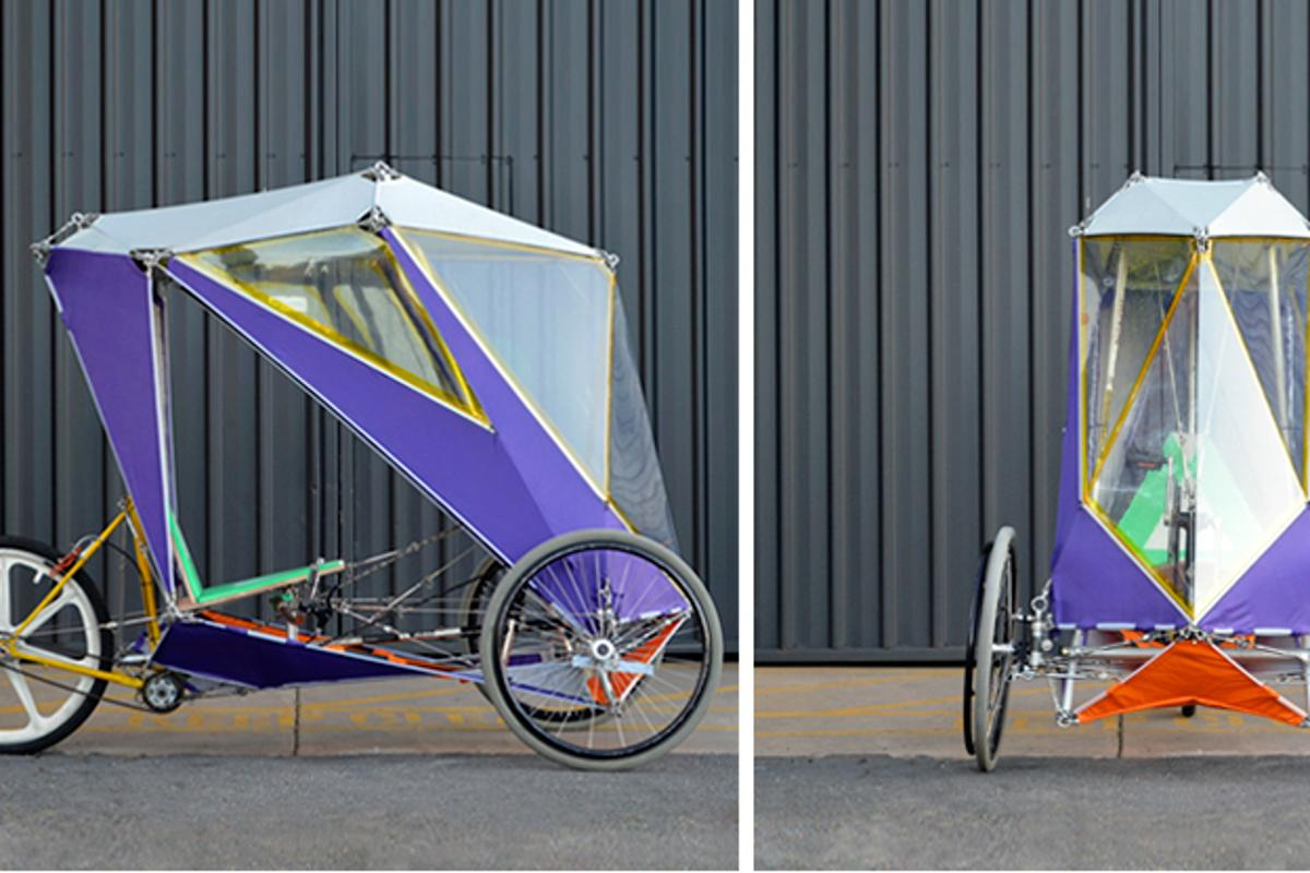 """The project challenge was to design a DIY build system for a velomobile from easy-to-source materials with easy-to-access tools"""