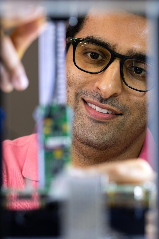 Rice University graduate student Seyed Mohammad Sajadi is the lead author on a paper describing a new type of 3D-printed bulletproof polymer