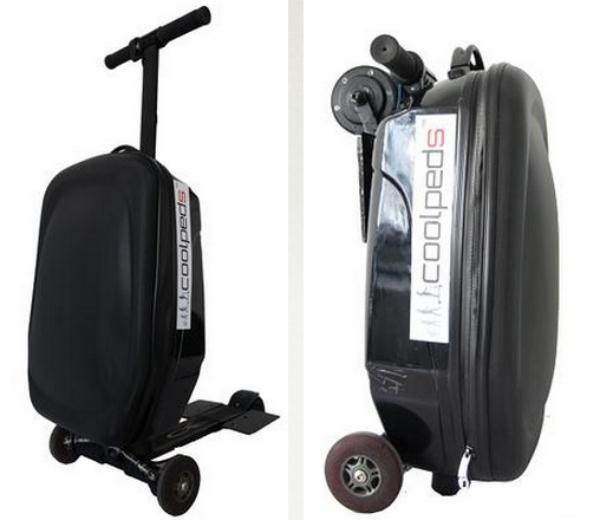 The Briefcase Electric Scooter from Coolpeds can be transformed into a mode of transport quickly and easily