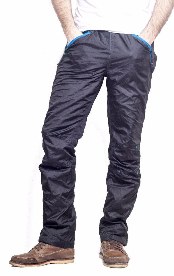 From the outside, Vear's pants look like regular rain pants