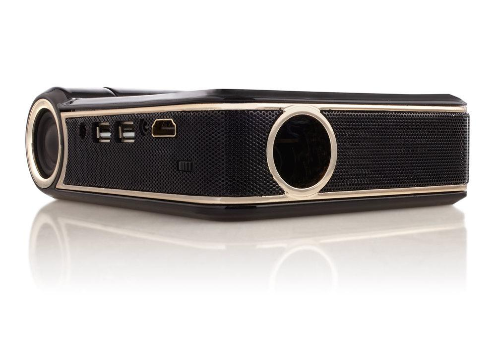 The Odin projector has one HDMI port, two USB ports and an audio out jack