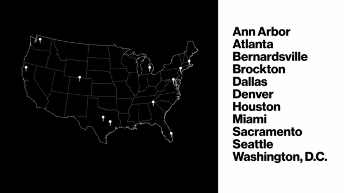 The cities Verizon is using for its test rollout