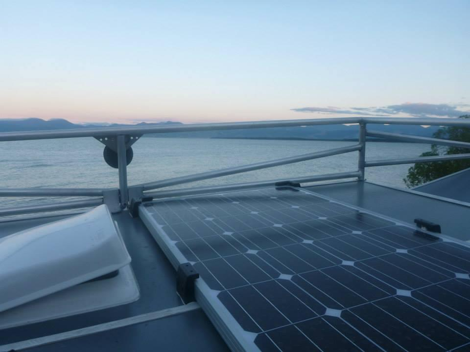The Ecombo comes standard with a 100W solar panel on the roof