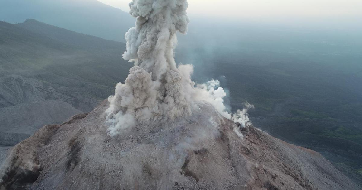 Drone used to safely study an active volcano