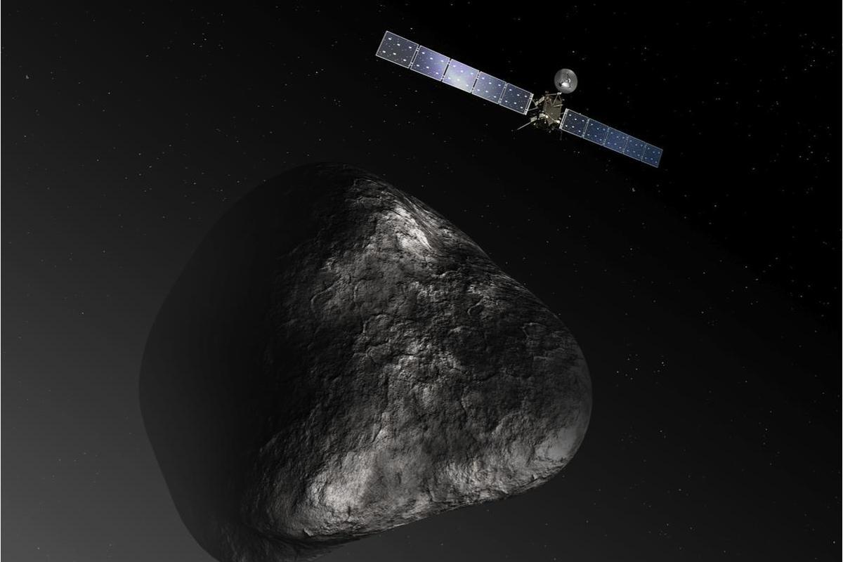 Artist's impression of Rosetta and 67P/Churyumov-Gerasimenko (Image: ESA/ATG Medialab)