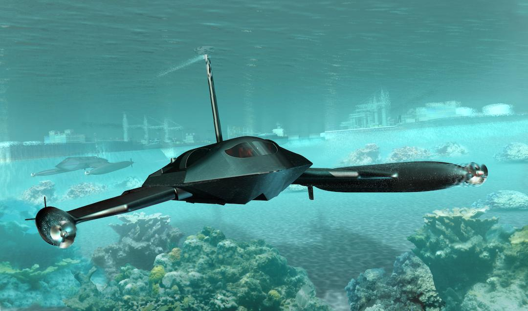 JMS has unveiled the Guardian, a submersible unmanned version of its drag-reducing Ghost marine platform