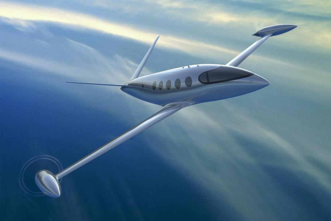 Render ofEviation's nine-seat electric aircraft, Alice