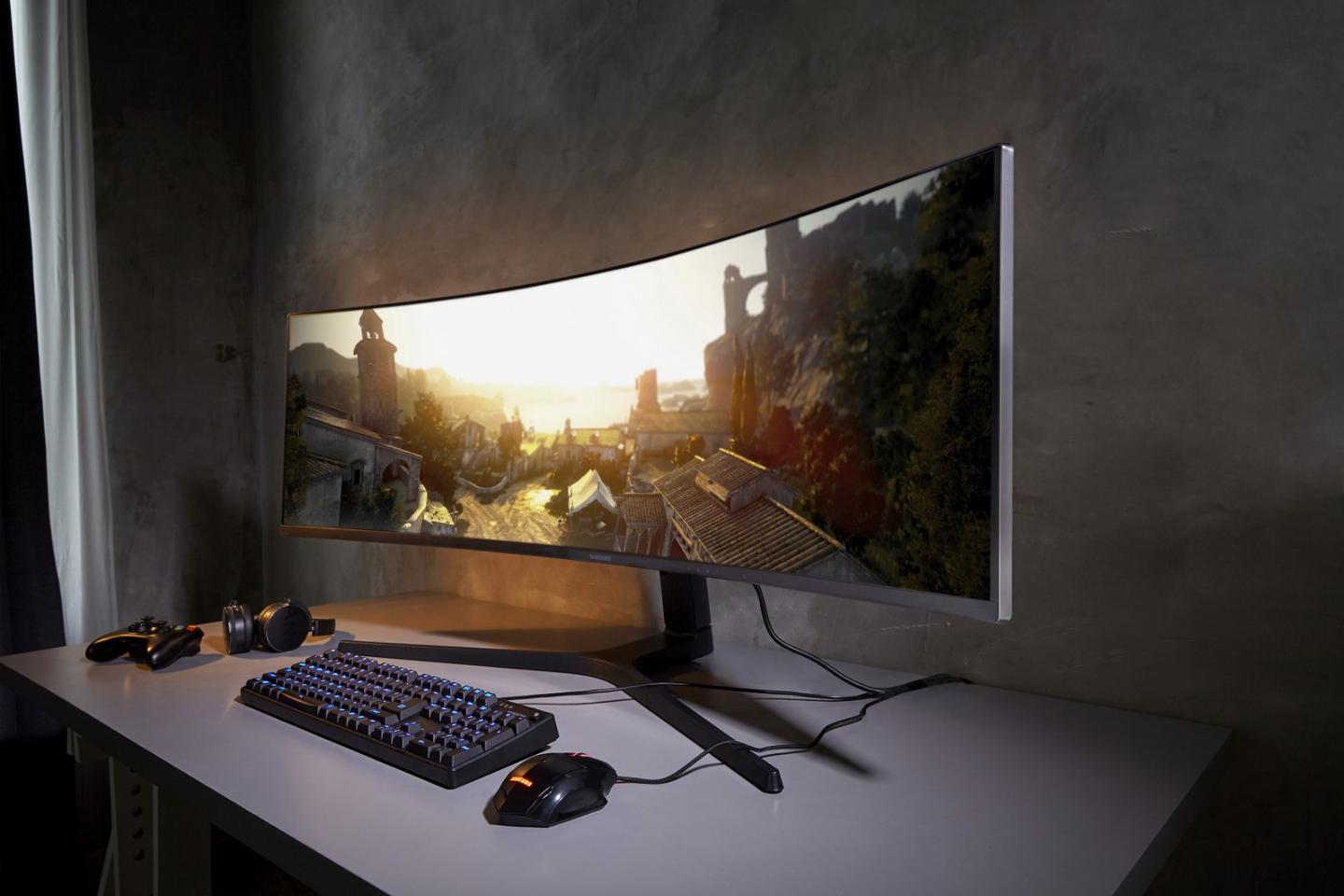 Samsung's CRG9 is an ultra-wide curved gaming monitor
