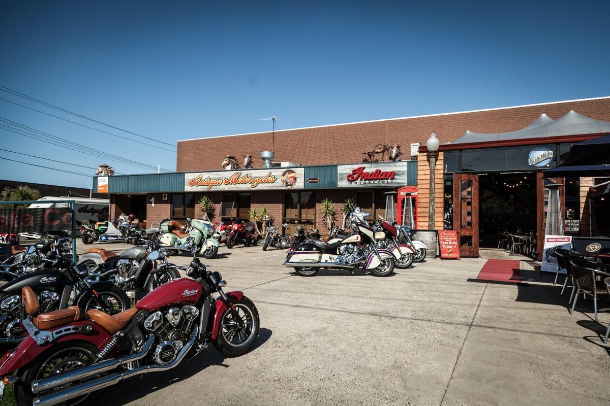 Antique Motorcycles, in Moorabbin, outside Melbourne, Australia