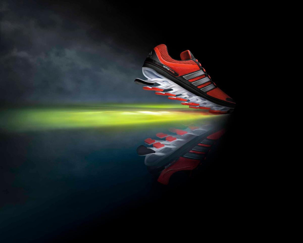 The Adidas Innovation Team (AIT) spent six years developing the Springblade and testing different materials to determine which ones would provide the greatest durability and energy efficiency