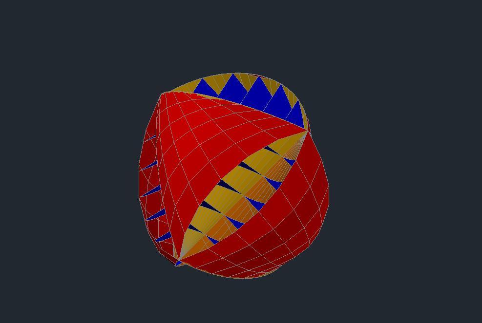 CADmodel of the O-Wind turbine ball design