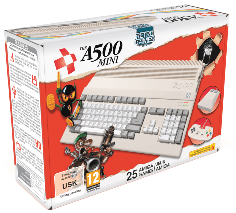 The Amiga 500 Mini is a scaled-down remake of the classic 80s games machine, complete with 25 games preloaded