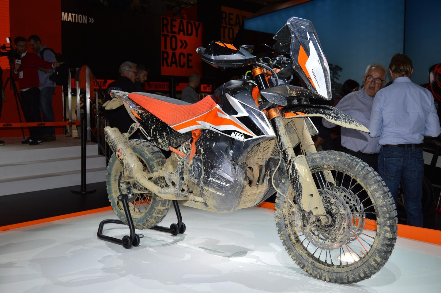 The 790 Adventure concept showcases the next bike to run on KTM's new in-line twin-cylinderengine