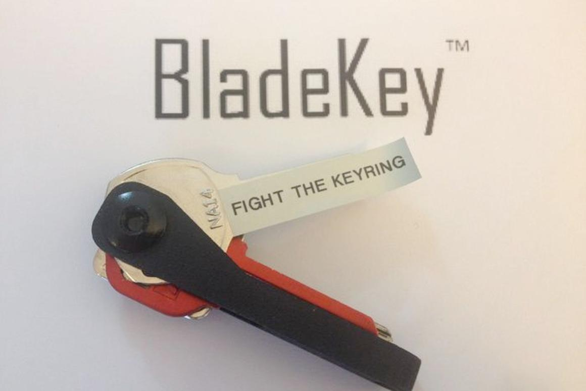 The BladeKey offers a new way to carry keys