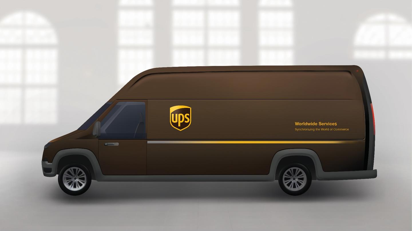 A rendering of UPS and Workhorse's forthcoming electric delivery truck