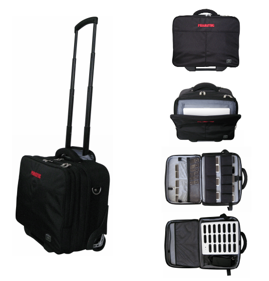 The Parasync Transport Roller stores, protects and transports a MacBook and up to20 iPods or iPhones