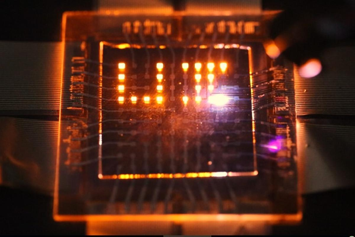 The LED array could also be used in electronic whiteboards