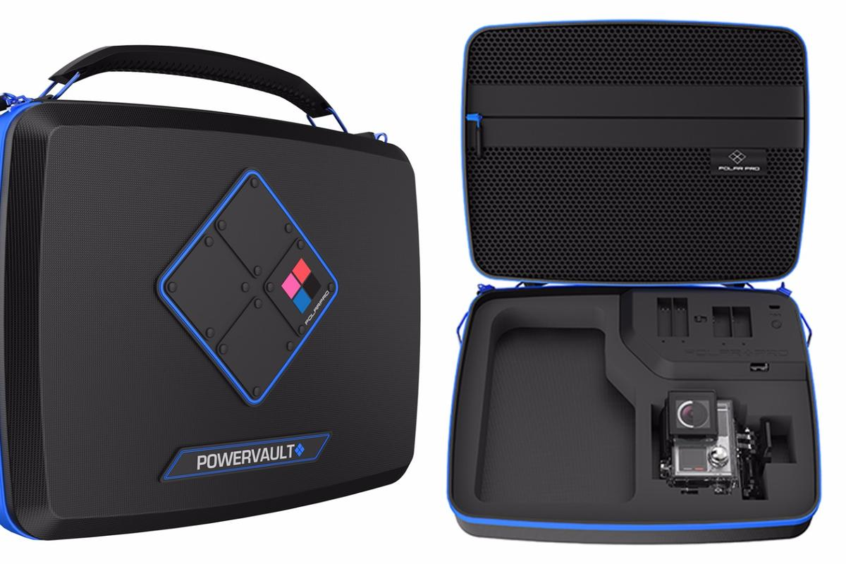 The Polar Pro PowerVault is a GoPro carrying case which can also recharge your batteries