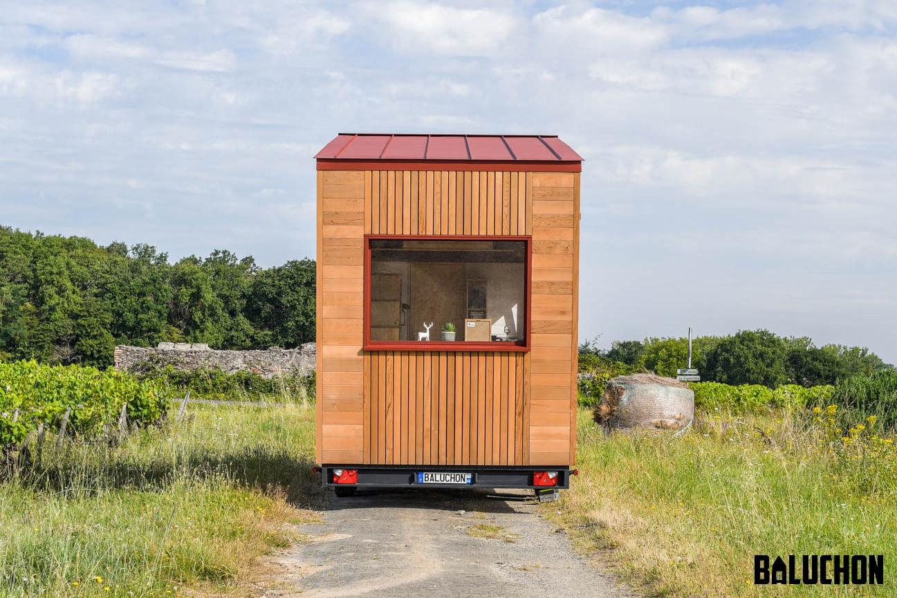 Tiny House Insoumise features generous glazing