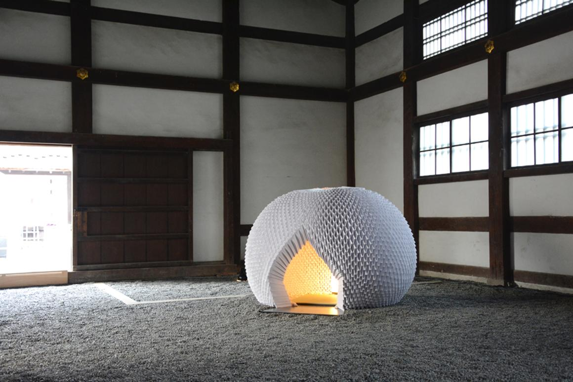 Shi An A Japanese Origami Tea House Made Entirely Out Of Paper