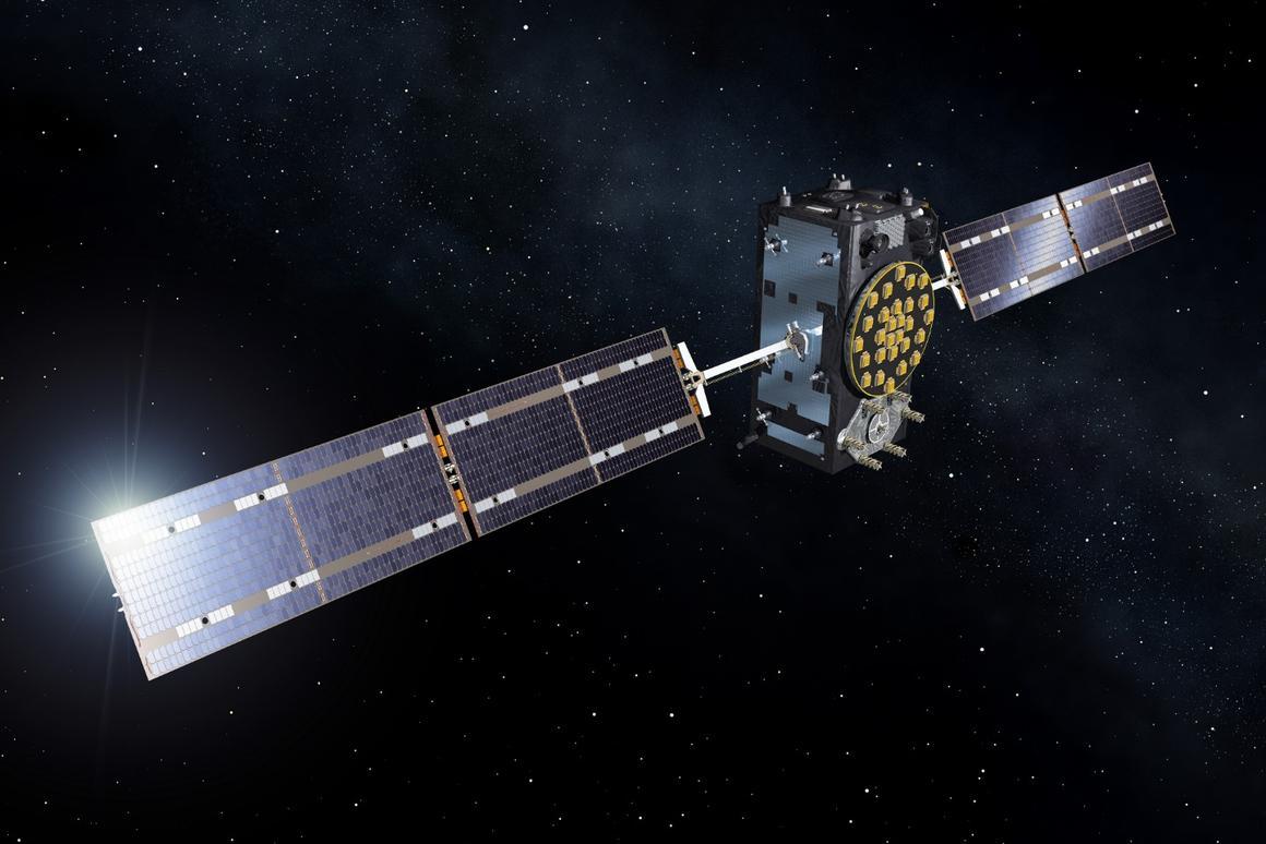 Artist's concept of a Galileo satellite
