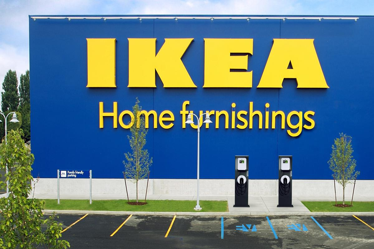 IKEA and ECOtality have announced that select stores in the Western U.S. will soon feature Blink electric vehicle charging stations (Photo: ECOtality/IKEA)