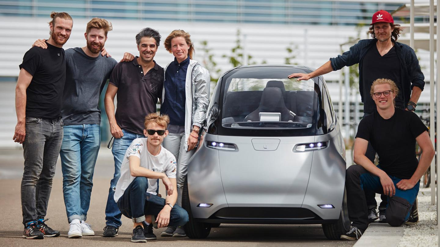 The Uniti team takes the One electric city car out for a test drive in the Swedish summer sun