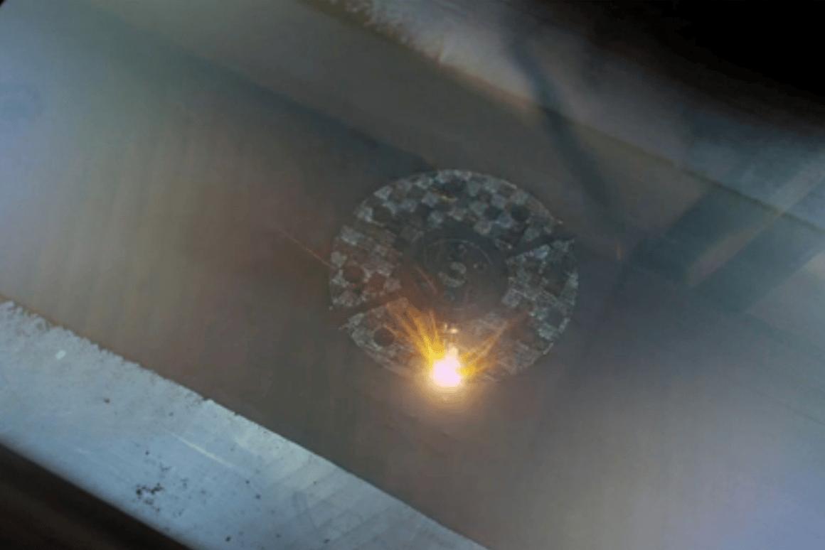 M2 Cusing Machine in operation (Image: NASA)