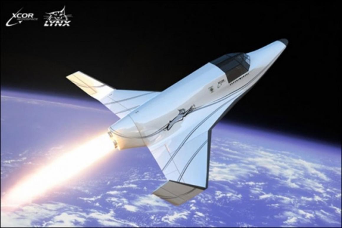 Lynx sub-orbital spacecraftImage: www.xcor.com