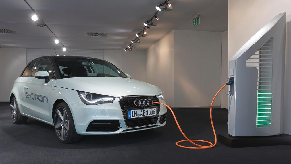 The batteries of future Audi e-tron models will be charged using solar power