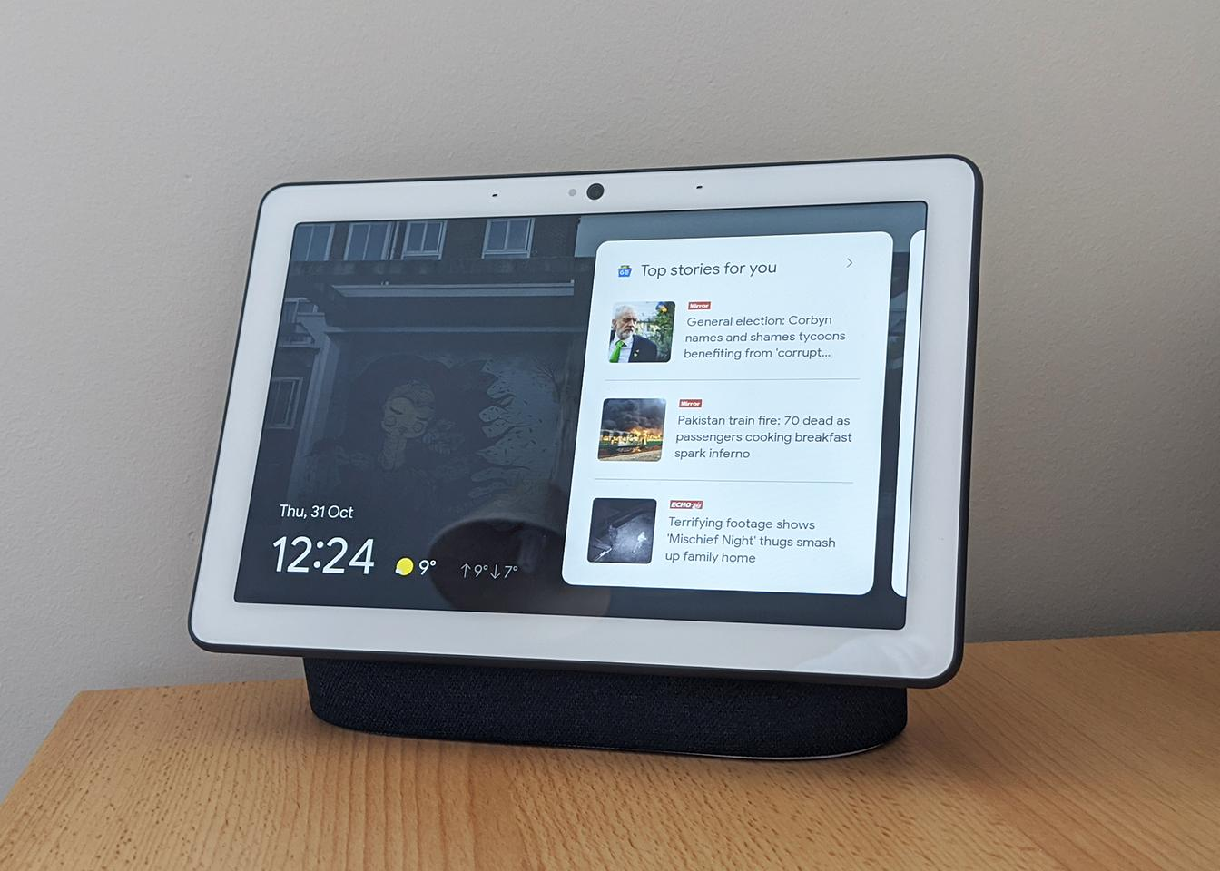 Most interaction is done with your voice, but features can be accessed through the touchscreen