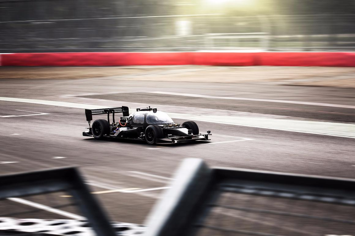 The DevBot has been designed to serve as a base for teams to hone their software for the real Roborace cars