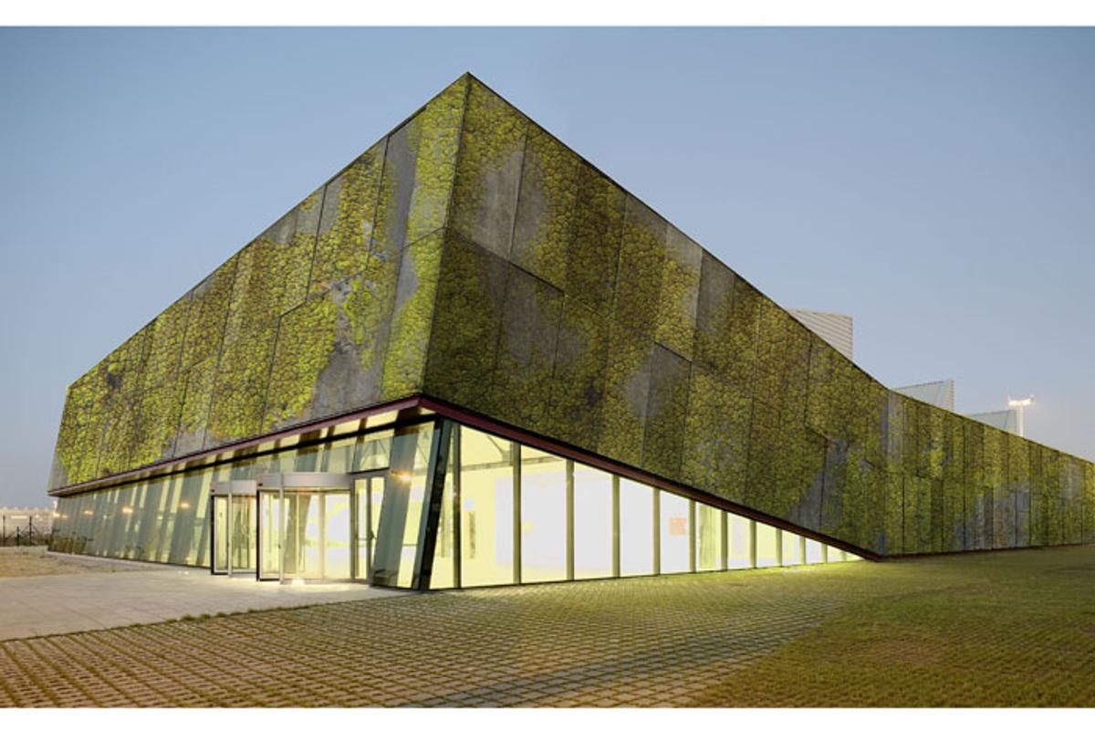 Biological concrete panels