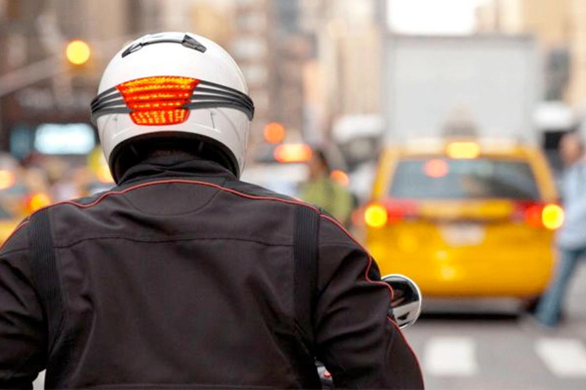 The Signal motorcycle helmet light (Photo: Quirky)