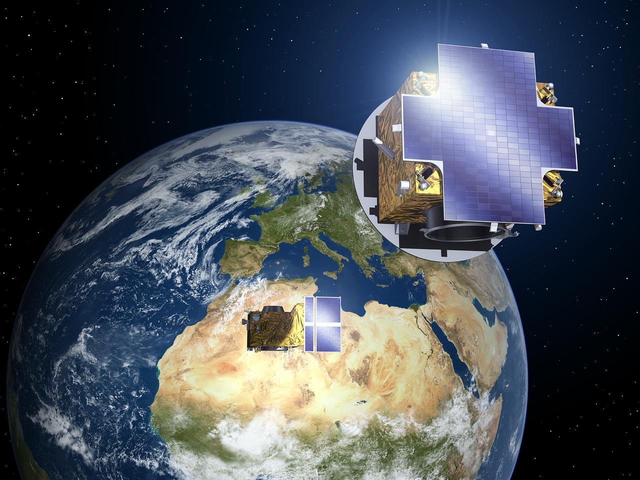 Proba-3 satellites in formation