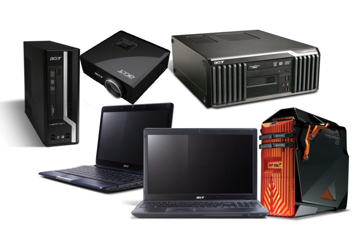 Some of the new products unveiled by Acer at this year's CeBIT show in Germany