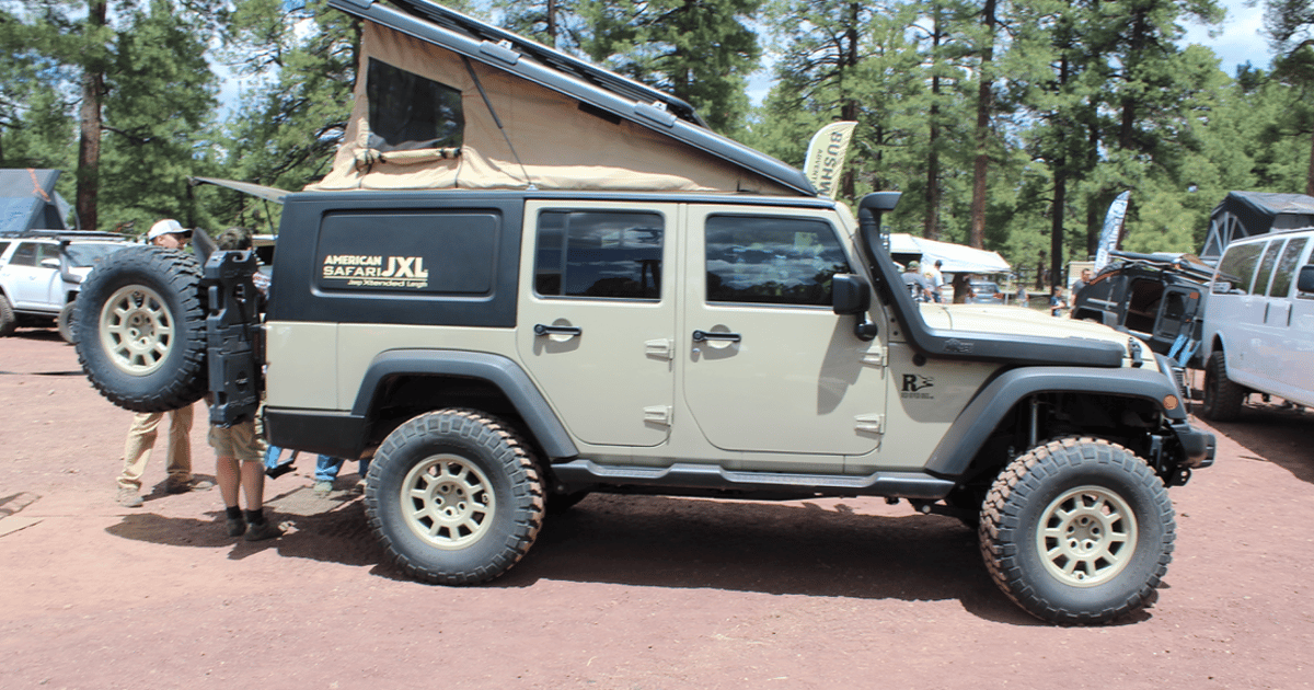 Jeep Wrangler becomes the ultimate pop-up adventure camper with new JXL conversion