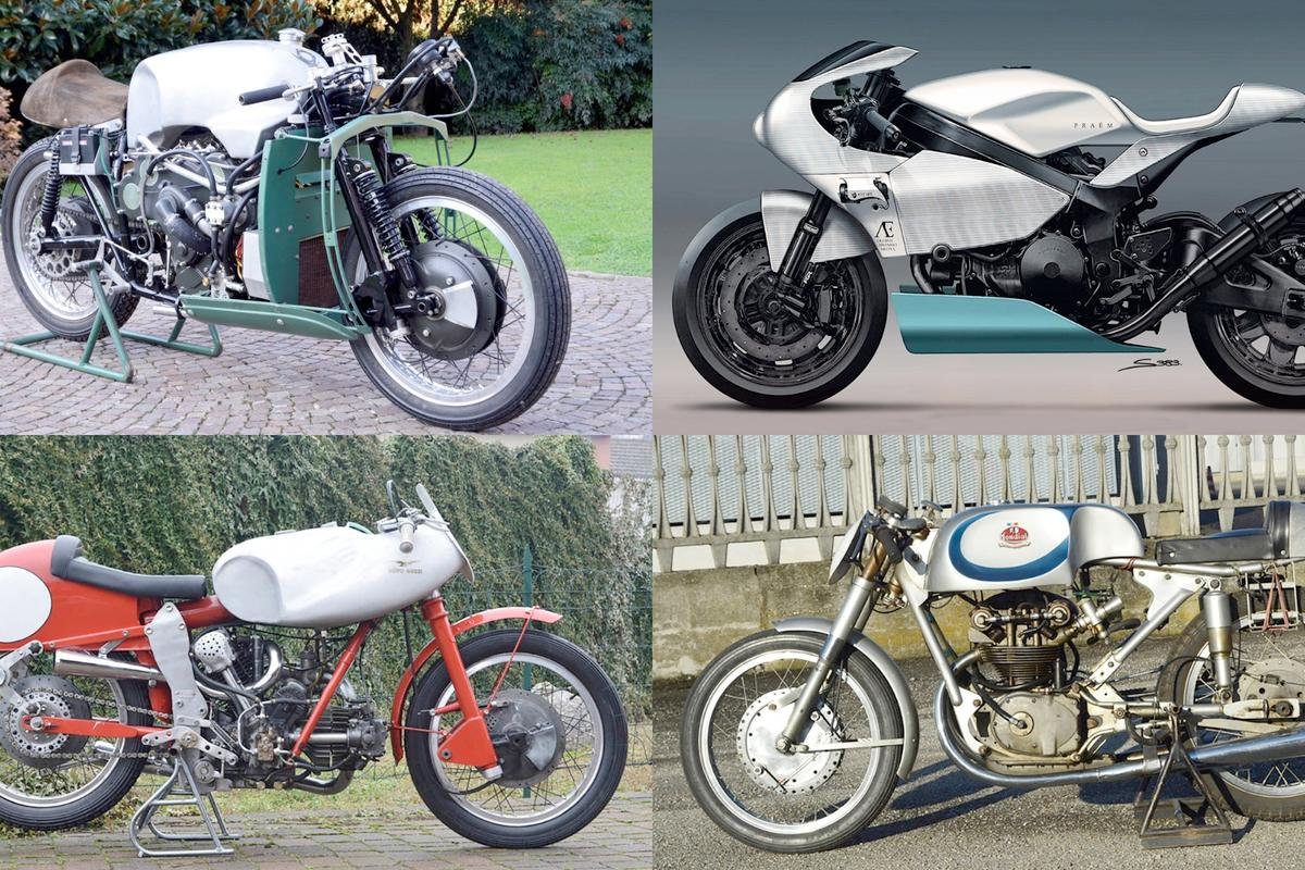 From top left, the Moto Guzzi V8 Grand Prix replica (