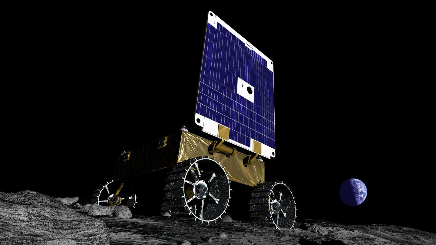 Rendering of the MoonRanger, which will search for water on the Moon