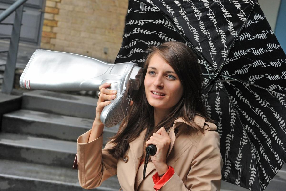 Using a Welly as a phone on a day when you would wear a Welly may not be a well considered decision