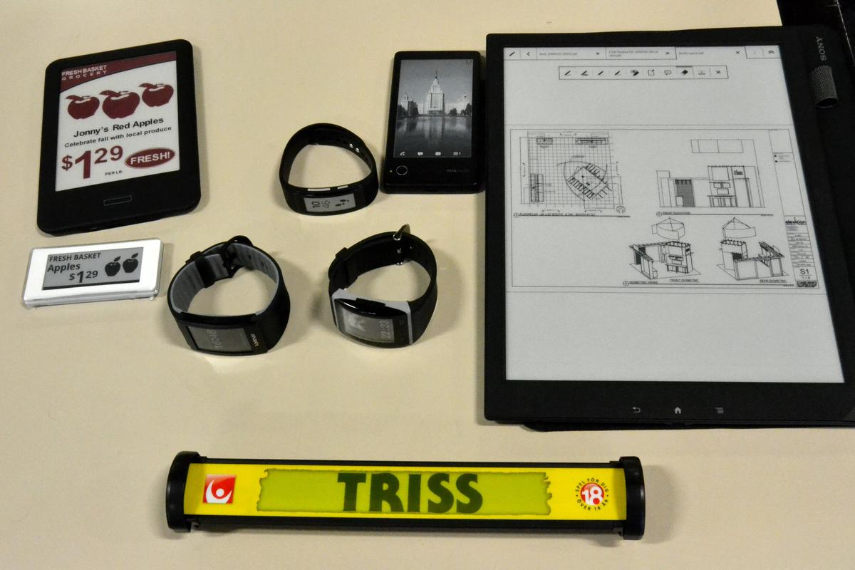 E Ink products past, present and future (Photo: Paul Ridden/Gizmag)