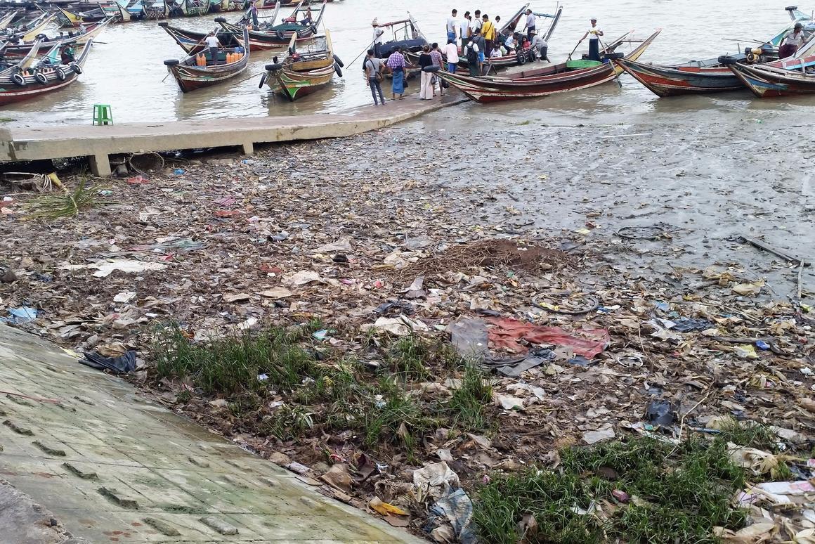 Plastic waste buildup in Myanmar