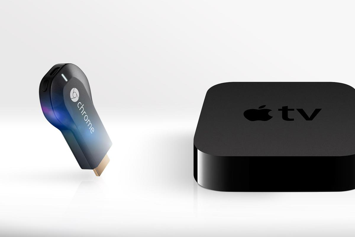 Gizmag compares the specs (and other features) of the new Google Chromecast and the 3rd-generation Apple TV set-top box
