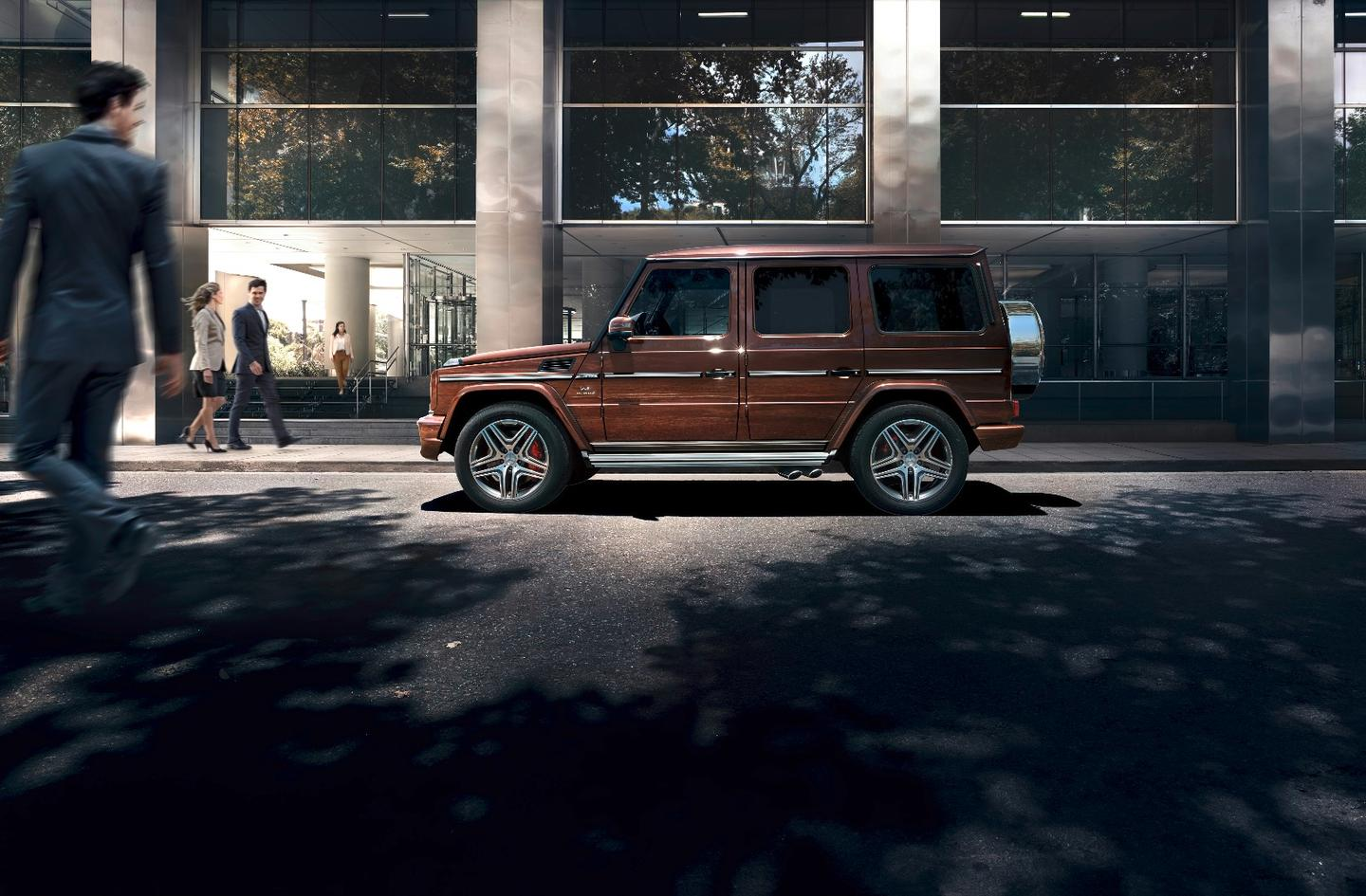 AMG G 63 with design mystic brown bright paint job