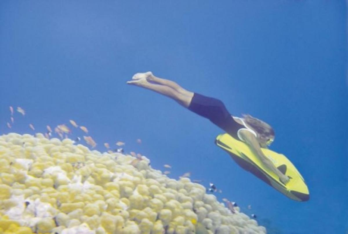 The SeaBob dives to a depth of up to 40 metres