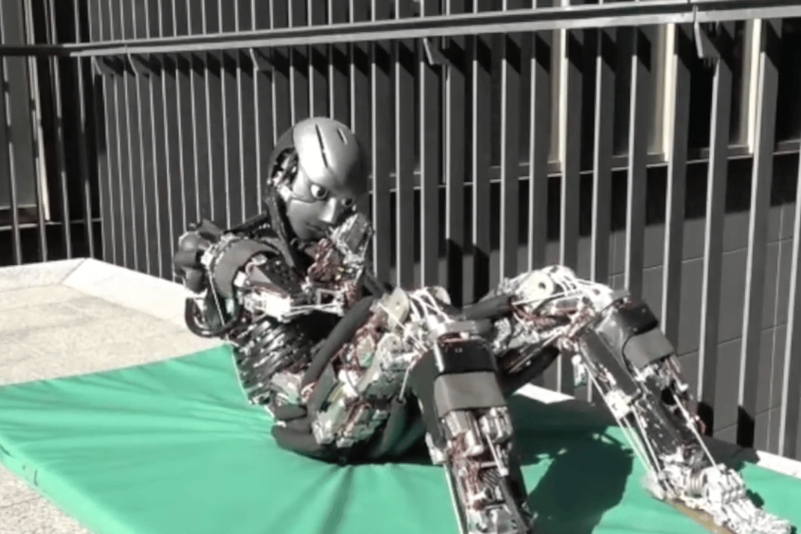 Kengoro is a robot designed to accurately copy the musculoskeletal system of a human body
